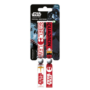 Star Wars Rogue One Rebel Pack of 2 Festival Wrist Bands