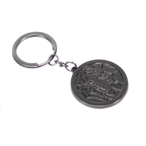 Spider-Man Logo on Web Metal Keyring