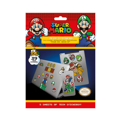 Pack of 39 Super Mario Bros Tech Stickers