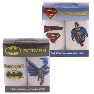 Superheroes 2 Pack Cotton Handkerchiefs