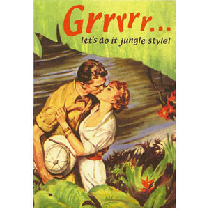 Grrrrr… Let's Do It Jungle Style! Greeting Card
