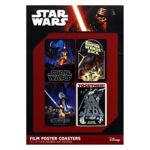Load image into Gallery viewer, Star Wars Film Posters Set of 4 Coasters