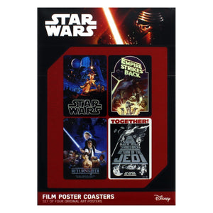 Star Wars Film Posters Set of 4 Coasters