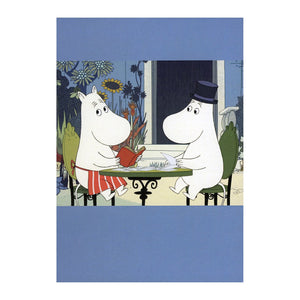 The Moomins on the Riviera Garden Table Greeting Card