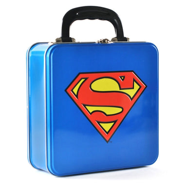 Superman Logo Embossed Square Tin Tote
