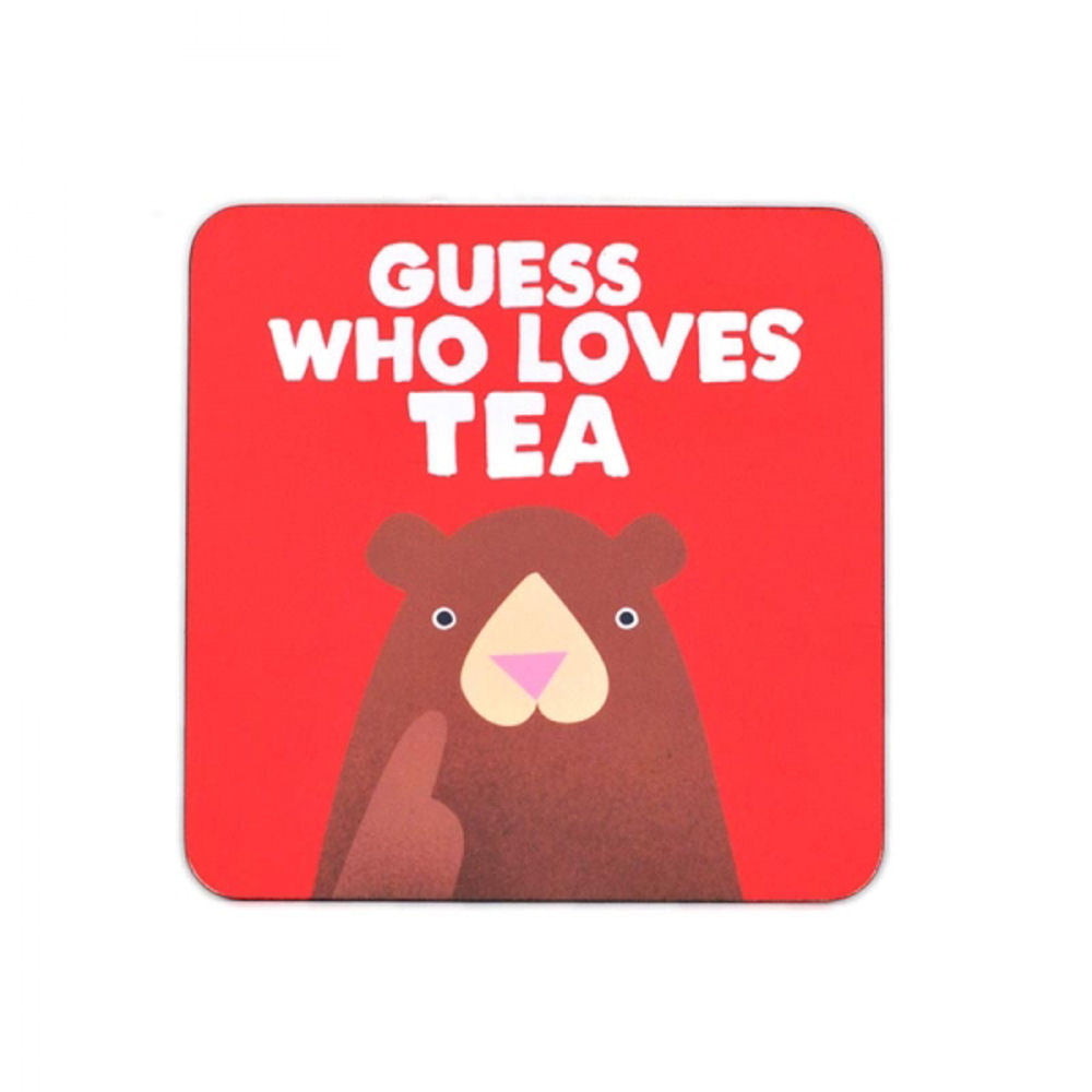 Jolly Awesome Guess Who Loves Tea Coaster