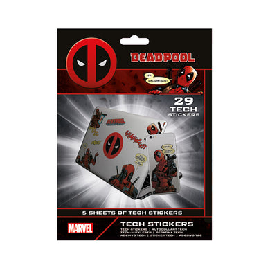 Pack of 29 Deadpool Tech Stickers