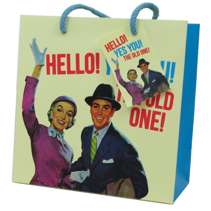 Hello! Yes You! The Old One! Medium Gift Bag & Tag