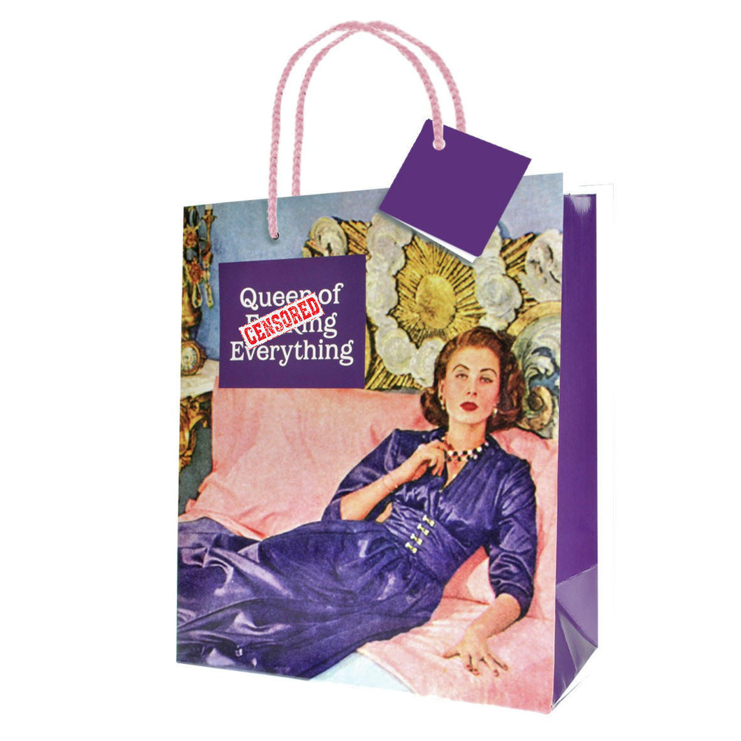 Queen Of F****** Everything Small Gift Bag