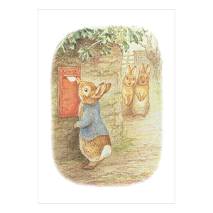 Beatrix Potter Peter Rabbit Posting Letters Greeting Card