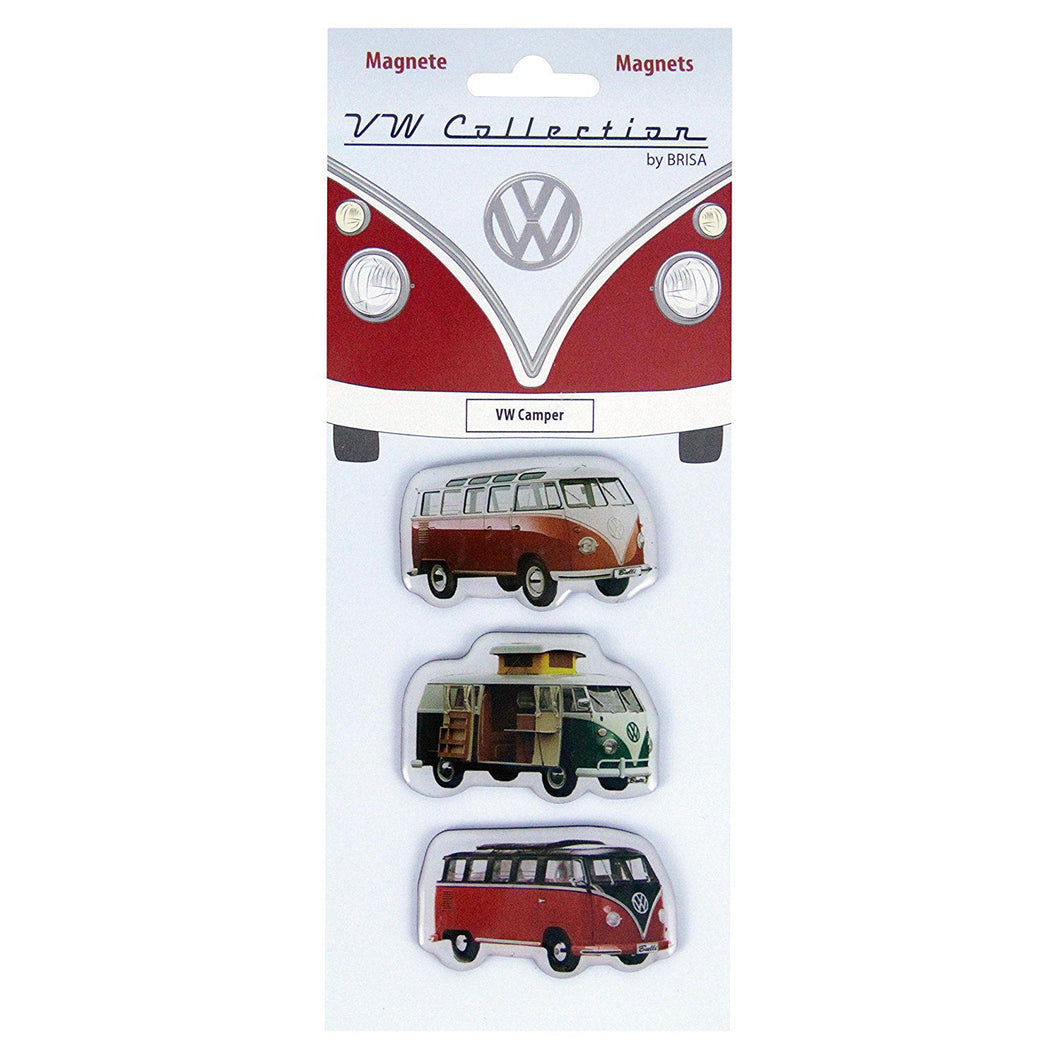 Set of 3 VW Camper Van Fridge Magnets