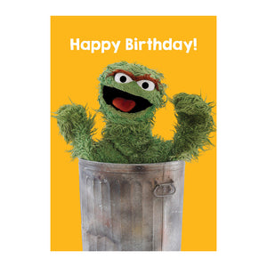 Sesame Street Oscar The Grouch Happy Birthday Greeting Card