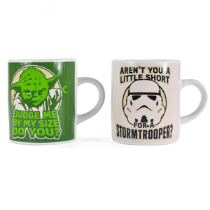 Yoda & Stormtrooper Mini Espresso Cups - 2 Pack