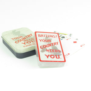 Your Country Needs You Playing Cards In A Tin
