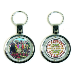 The Beatles Sgt Pepper Premium Spinning Metal Keyring