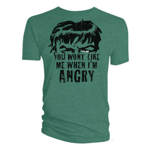 "The Incredible Hulk ""You Won't Like Me When I'm Angry"" T-shirt"
