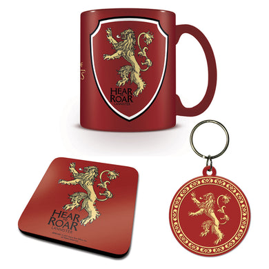 Game of Thrones Lannister Mug Coaster & Keyring Set