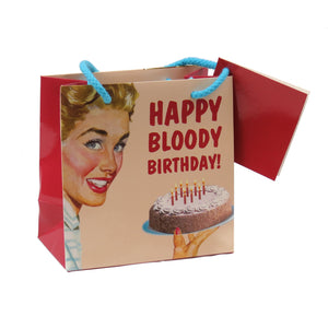 Happy Bloody Birthday Small Gift Bag