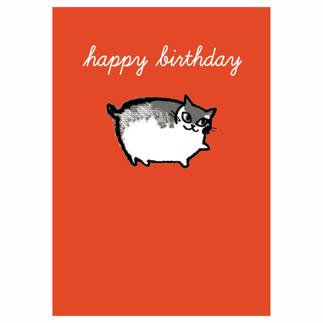 Shinzi Katoh Cat Happy Birthday Greeting Card
