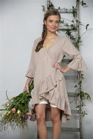 Dress - Lovely affection - Linen color