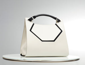 SIX Collection Modern Tote - Warm White/ Black