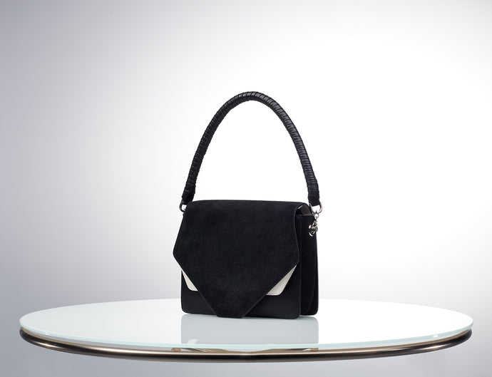 SIX Collection Shoulder Bag - Warm White/ Black