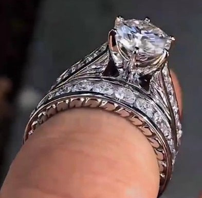 Full Stud Diamond Couples Ring