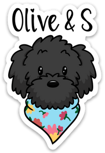 Olive & S Logo Sticker