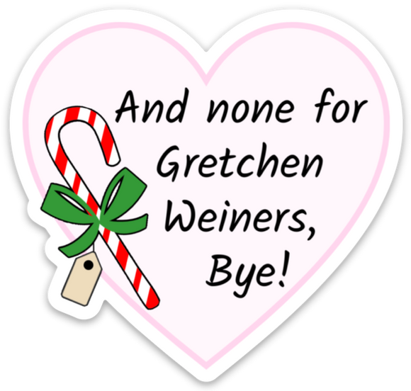 Candy Cane Gram Sticker