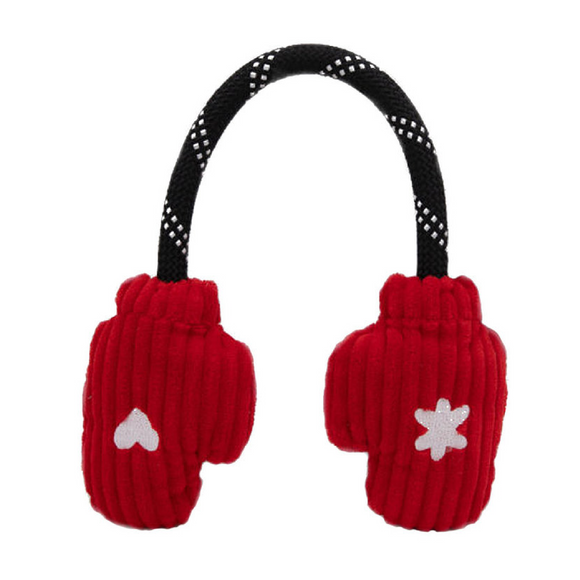 Holiday Mittens Rope Dog Toy