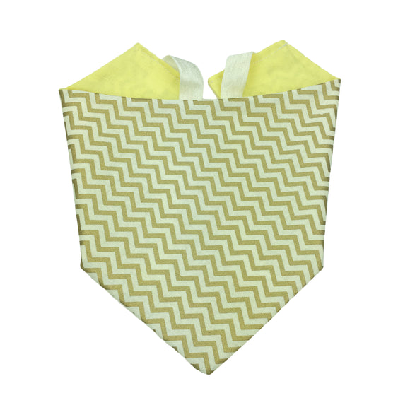 Gold Chevron Bandana