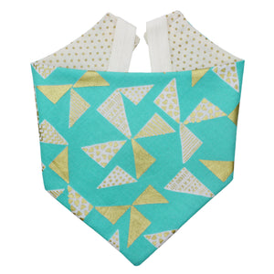Gold Metallic Triangle Bandana