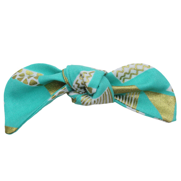 Gold Metallic Triangle Hair Bow