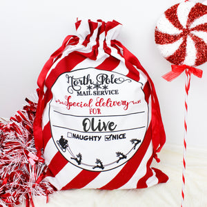 Personalized Santa Sack For Presents