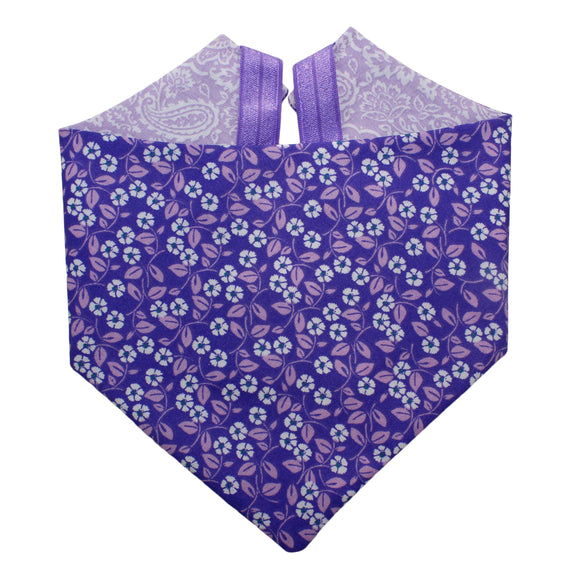 Purple Floral Bandana