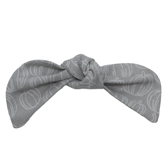 Light Gray Pumpkin Hair Bow