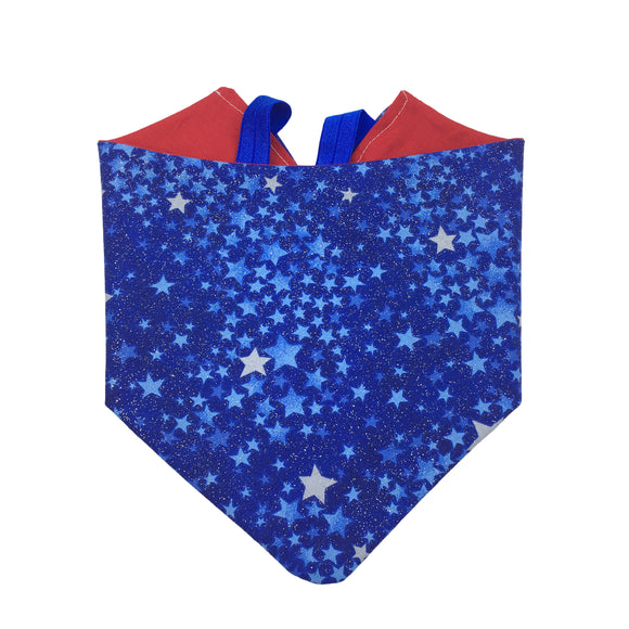 Red Blue and Stars Bandana