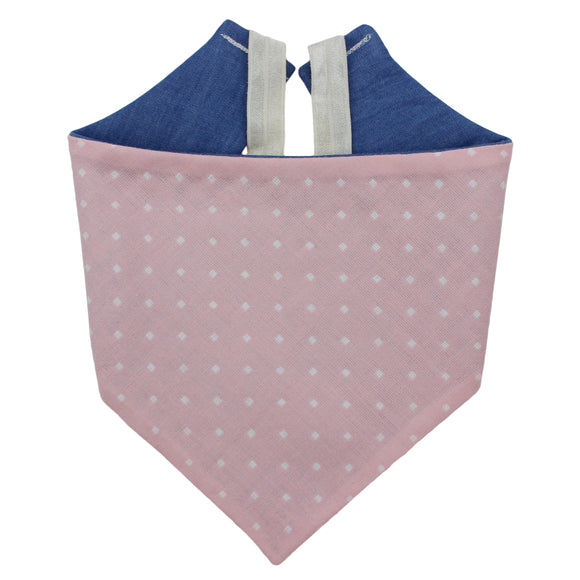 Baby Pink And Denim Bandana