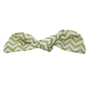 Gold Chevron Hair Bow