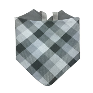Gray Plaid Bandana