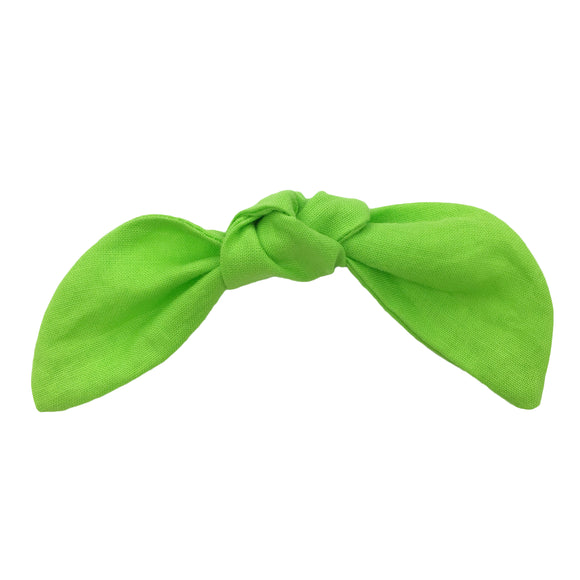 Lime Green Hair Bow