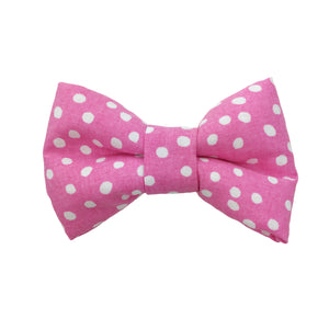 Pink Polka Dot Bow Tie