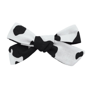 Cow Print Hair Bow