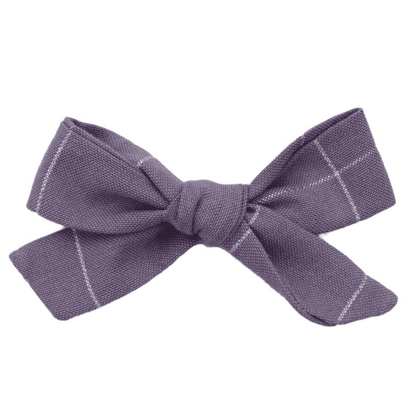 Purple and Silver Hair Bow