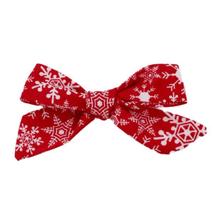 Red Snowflake Hair Bow