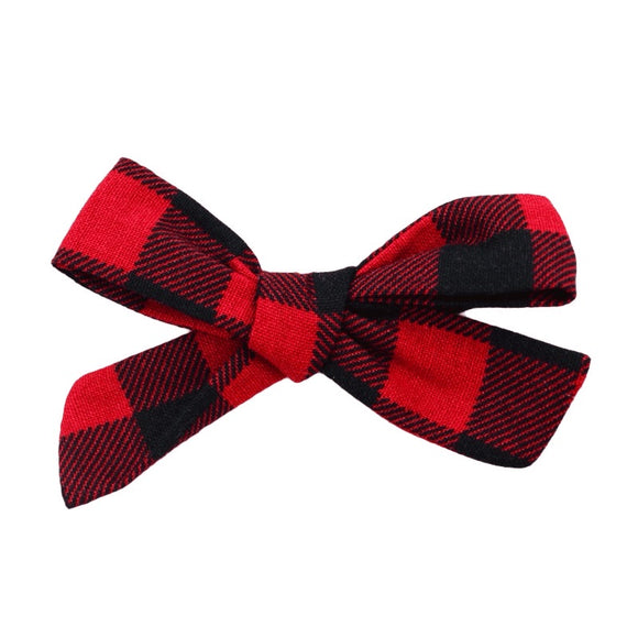 Buffalo Plaid Hair Bow