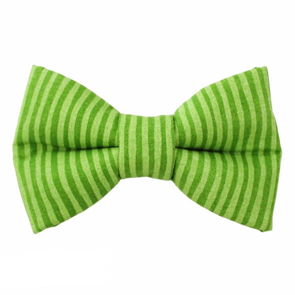 Green Stripes Bow Tie