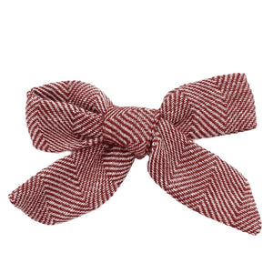 Maroon Patterned Hair Bow