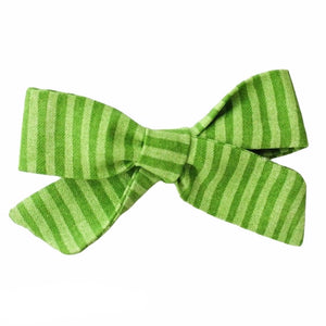 Green Stripes Hair Bow
