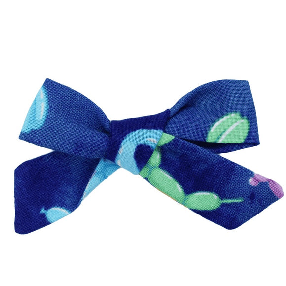Blue Balloon Animals Hair Bow